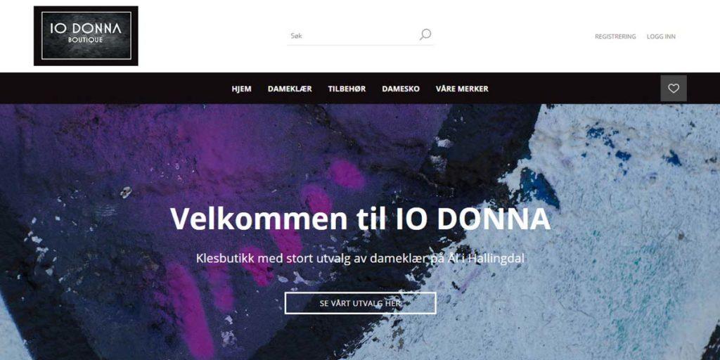 IO Donna Boutique er på nett