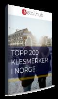 200 mest populære klesmerkene i Norge